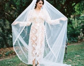Emily, Cathedral Veil, Cathedral Wedding Veil, Lace Veil, Fingertip Veil, Cathedral Veil Ivory, Cathedral Veil Lace, Bridal Veil, Ivory