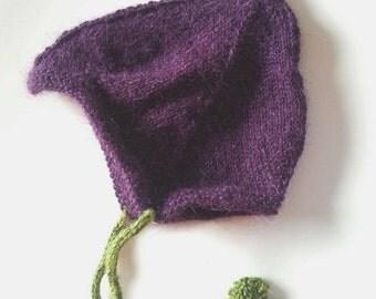 Plum Pixie Baby Hat