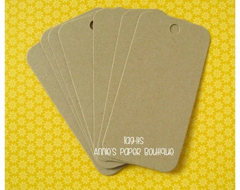 Kraft Hang Tags {25} - Parcel, Gift, Gift Giving, Cardstock, Blank Tag, Shipping, Inventory, Package, Treats, Favors, Showers