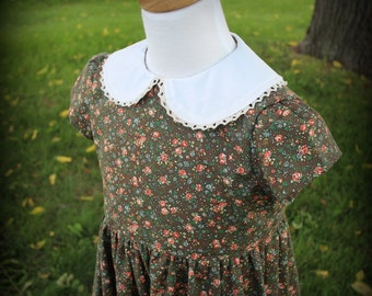 Girl's 1950's Calico Dress Sizes 2-10