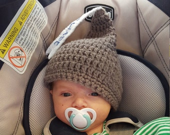 Personalized Kisses Baby Hat, Crochet Hersheys Kisses Gray Baby Cap MADE TO ORDER by Charlene, Photo Prop, Twins or Triplets Beanies