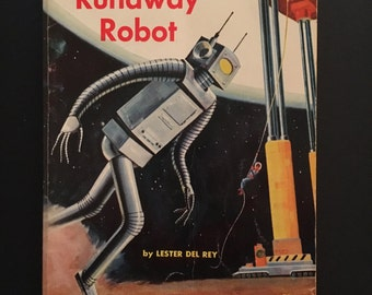 The Runaway Robot - Vtg 1966 Children's Book