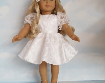 18 inch doll clothes - #300 First Communion Dress handmade to fit the American Girl Doll - FREE SHIPPING