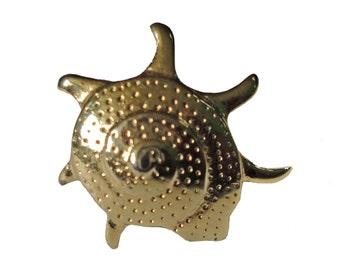 NAUTILUS Sea Shell lapel vintage pin brooch