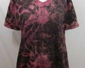 Tie Dye T-shirt Size Large Rose and Bordeaux