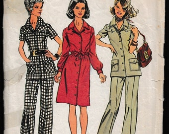 Simplicity 5735 Misses Dress or Tunic and Pants
