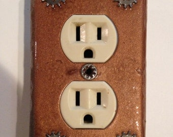 Double plug outlet cover