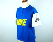 Vintage 1980's Short Sleeve New Wave Nike Cycling Jersey with 3-Pocket Back