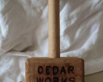 Primitive Cedar Works Mallet or Hammer.
