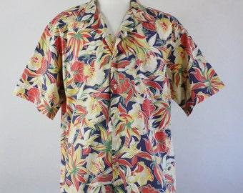 Ralph Lauren Shirt. Polo. Tropical Shirt. Floral Shirt. Summer Shirt. Casual Dress Shirt. Mens Xl. GOGOVINTAGE. FREE SHIPPING