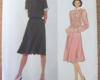 Vintage 1980's Vogue Albert Nippon Dress Pattern 2902
