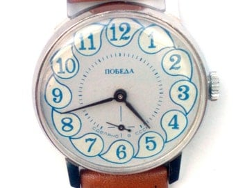 Wrist watch mens watch Pobeda grey watch men watch, men's mechanical watch,
