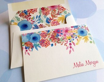 Personalized Stationery Set, Custom Note Cards, Folded Note Cards, Set of 10