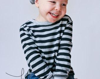Baby Slouchy Beanie, Slouch Motorcycle Knit Hat, Boy Hat, Girl Hat, Grey, Black, Toddler Hat, School Beanie, Newborn Baby Hat