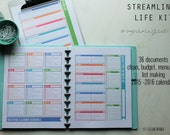 ORGANIZE - The STREAMLINED Life Kit - 36 documents - standard and half size included - Instant Download