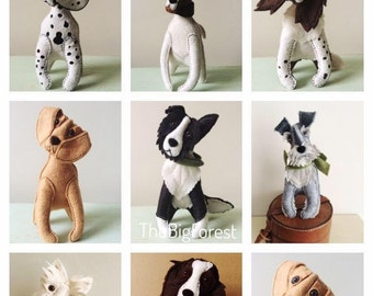 Commission a Personalised Felt Dog Sculpture gift art animal