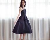 80s Party Dress - Vintage 1980s Cocktail Dress - Double Date Dress