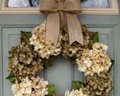 Spring Wreath - Spring Hydrangea Wreath - Spring Door Wreath