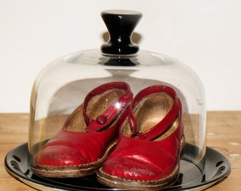 Cute little red vintage shoes from around 1940