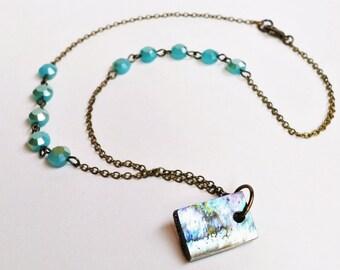 Abalone Pendant, Bohemian Jewelry, Abalone Necklace, Shell Choker, Abalone Jewelry, Bohemian Necklace, Abalone Shell Pendant, Shell Necklace
