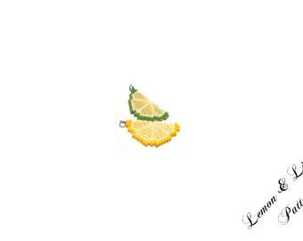 Lemon & Lime Beading PATTERN, Fruit Seed Bead Jewelry Craft