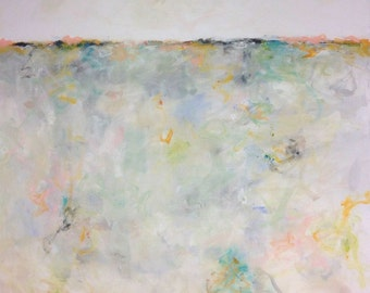Large Abstract Seascape/Landscape - Summer Coast 48 x 60