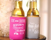 Personalized 2 Two Less Fish in the Sea Bridal Wedding Favors, Wedding Can Coolers, Beach Wedding, Custom Beverage Insulators, Beer Huggers