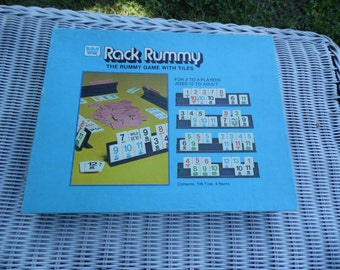 Rack Rummy vintage 1979 game by Western Publishing Co The Rummy Game with tiles complete game with instructions ready for your game night