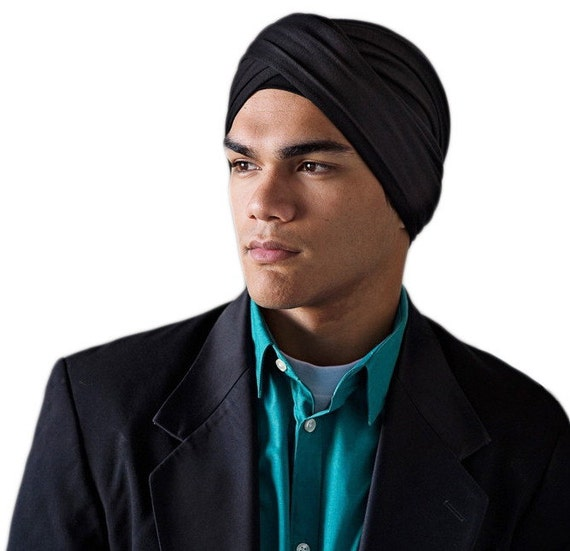 Men's Black Turban Dreads Wrap Buff Scarf Motorcycle