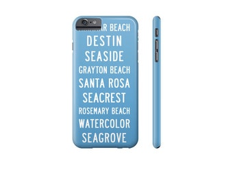 SEASIDE Florida iPhone Case, Blue iPhone 6S Case, iPhone 7 Case, Cover for Samsung Galaxy s7 Case, Beach Phone Case, Samsung Phone Covers.