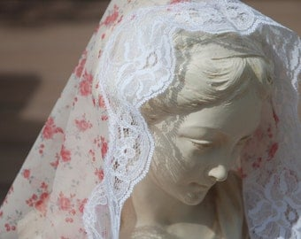 St. Philomena's Flowered Mantilla