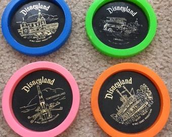 Vintage Disneyland Drink Coasters Set