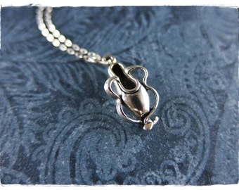 Silver Pointe Shoe Necklace - Sterling Silver Pointe Shoe Charm on a Delicate Sterling Silver Cable Chain or Charm Only