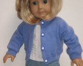 BLUE WOOL SWEATER Molly or Emily 18 inch doll clothes