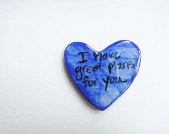 I Have Great Plans For You Blue Prayer Heart