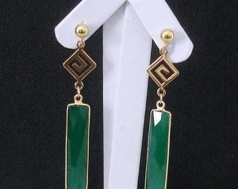SHOP CLOSING SALE: Ashira Stunning Minimalist Gold Natural Gemstones Drop Earring, 3 Natural Stones