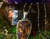 Mystic River- Tribal Boulder Opal Necklace