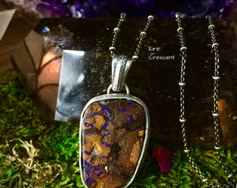 Mystic River- Tribal Boulder Opal Necklace