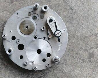Vintage clock movement plate -- D7