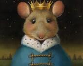 Mouse Portrait Print - Mouse King - Nutcracker Print - Christmas Mouse Portrait - Mouse Art