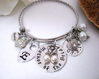 Mother of the Bride Bracelet, Mob Jewelry, Mother of the Bride Jewelry, Mother of the Bride, Stainless Steel Bangle