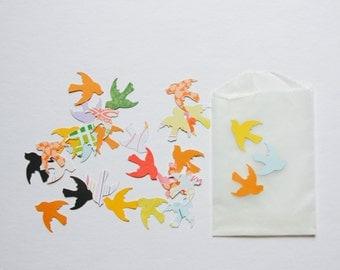 Bird Paper Confetti . 25 Paper Die Cuts . Ephemera Cardstock Notebook Paper Scrapbooking Mixed Media Planner Supplies Listers Gotta List