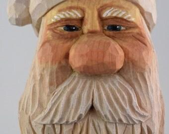 Santa, wood carving, Christmas, caricature, elf, shelf