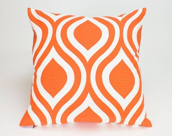 Tangelo Orange Modern Emily Throw Pillow Cover - 18 inch