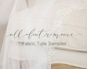 Silk Tulle Samples, English Silk Tulle Sample, Fabric Samples, Silk Veil Samples