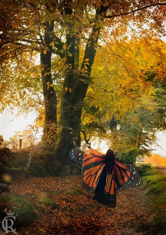 Autumn Fairy print -  fine art photography home decor