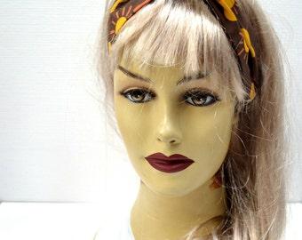 Dolly Bow Wire Headband - Organic Cotton - Ukulele