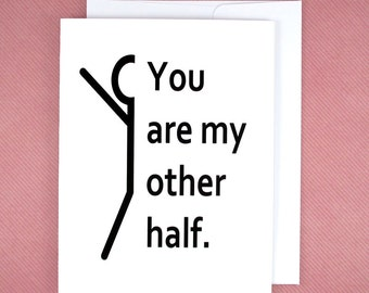 Love Cards- Boyfriend Card - My Other Half - Anniversary Gifts For Her - Valentine Ideas