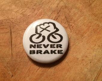 """1"""" straightedge bike fist button"""