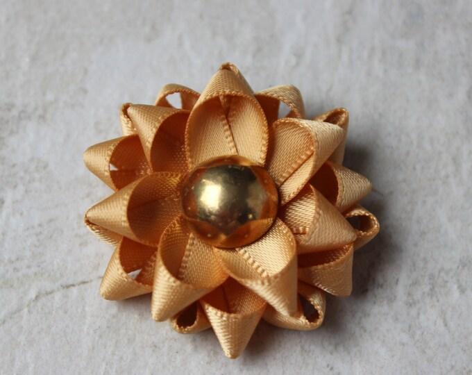 Mens Fashion, Lapel Flower for Men, Mens Lapel Pin, Old Gold Flower Lapel Pin, Gift for Him, Stocking Stuffer for Him, Mens Gifts, Handmade